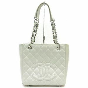 Auth Chanel Quilted Chain Tote Bag #18967C12B